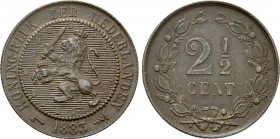 NETHERLANDS. Utrecht. 2 1/2 Cent (1883).