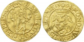 NETHERLANDS. West Friesland. GOLD Ducat (1595). Hungarian type.