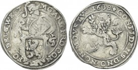 NETHERLANDS. West Friesland. Lion Dollar or Leeuwendaalder (1638).