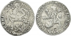 NETHERLANDS. West Friesland. 1/2 Lion Dollar or 1/2 Leeuwendaalder (1643).