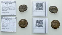 2 Coins of the Ostrogothic Kingdom / Athalarich.