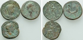 3 Sesterti; Antoninus Pius, Julia Mamaea and Gordianus III.