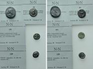 4 Greek Coins.