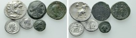 6 Greek and Roman Coins; Judaea Capta, Alexander the Great etc.