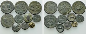 10 Roman Provincial and Greek Coins.