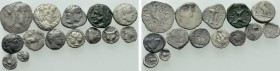 14 Greek Coins.