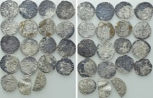 19 Medieval Coins; Some With Holes.