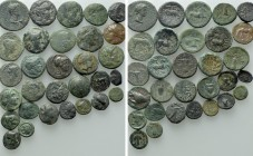 Circa 30 Greek Coins.