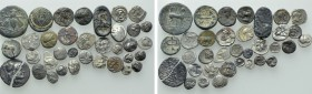 Circa 35 Greek Coins etc.