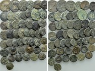 Circa 50 Greek Coins.