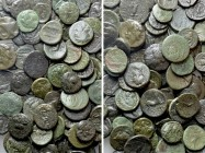 Circa 120 Greek Coins.