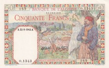 Algeria, 50 Francs, 1942, UNC, p87