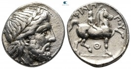 Kings of Macedon. Thermai. Philip II of Macedon 359-336 BC. Struck under Antipater, Polyperchon, or Kassander, ca. 323-315 BC. Tetradrachm AR