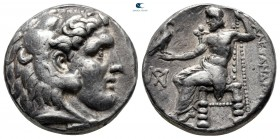 Kings of Macedon. Salamis. Demetrios I Poliorketes 306-283 BC. In the name and types of Alexander III. Struck circa 306-300 BC. Tetradrachm AR
