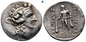 Islands off Thrace. Thasos 90-75 BC. Tetradrachm AR