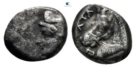 Asia Minor. Uncertain mint 450-400 BC. Hemiobol AR