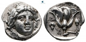 Islands off Caria. Rhodos circa 340-316 BC. Didrachm AR