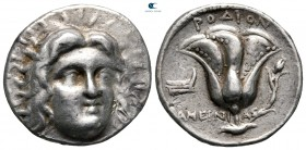 Islands off Caria. Rhodos. ΑΜΕΙΝΙΑΣ (Ameinias), magistrate circa 229-205 BC. Tetradrachm AR