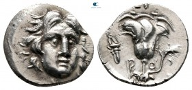 Islands off Caria. Rhodos. ΓΟΡΓΟΣ (Gorgos), magistrate 205-190 BC. Drachm AR