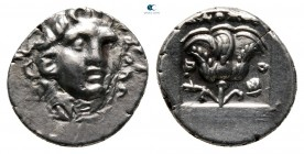 Islands off Caria. Rhodos 125-88 BC. Plinthophoric Hemidrachm AR