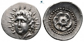Islands off Caria. Rhodos 88-42 BC. Philiskos (ΦΙΛΙΣΚΟΣ), magistrate. Drachm AR