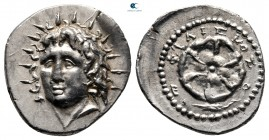 Islands off Caria. Rhodos 88-42 BC. Philiskos, magistrate. Drachm AR