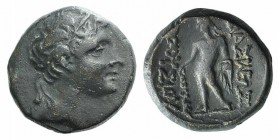 Kings of Bithynia, Prusias II (182-149 BC). Æ (15mm, 4.30g, 12h). Head of Prusias r., wearing a winged diadem. R/ Herakles standing l., holding club i...