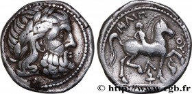 DANUBIAN CELTS - IMITATIONS OF THE TETRADRACHMS OF PHILIP II AND HIS SUCCESSORS Type : Tétradrachme au cavalier, imitation de Philippe II  Date : c. 3...