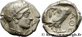 ATTICA - ATHENS Type : Tétradrachme  Date : c. 430 AC.  Mint name / Town : Athènes  Metal : silver  Diameter : 24  mm Orientation dies : 7  h. Weight ...