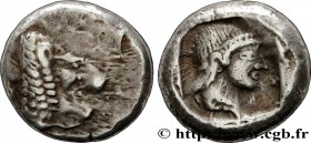 CARIA - KNIDOS Type : Drachme  Date : c. 465-449 AC.  Mint name / Town : Cnide  Metal : silver  Diameter : 15,5  mm Orientation dies : 6  h. Weight : ...