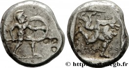 PAMPHYLIA - ASPENDOS Type : Statère  Date : c. 465-430 AC.  Mint name / Town : Aspendos, Pamphylie  Metal : silver  Diameter : 21  mm Orientation dies...