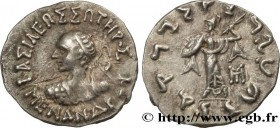 BACTRIA - BACTRIAN KINGDOM - MENANDER I SOTER Type : Drachme bilingue  Date : c. 160-155 AC.  Mint name / Town : Taxila  Metal : silver  Diameter : 17...