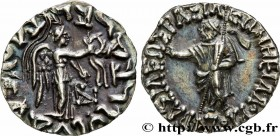 SCYTHIA - INDO-SCYTHIAN KINGDOM - AZES Type : Drachme bilingue  Date : c. 55-35 AC  Mint name / Town : Taxila  Metal : silver  Diameter : 18,5  mm Ori...