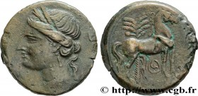 ZEUGITANA - CARTHAGE Type : Triple shekel  Date : c. 220-215 AC.  Mint name / Town : Carthage, Zeugitane  Metal : copper  Diameter : 30,5  mm Orientat...