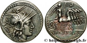 TULLIA Type : Denier  Date : 120 AC.  Mint name / Town : Rome  Metal : silver  Millesimal fineness : 950  ‰ Diameter : 20,5  mm Orientation dies : 3  ...