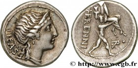 HERENNIA Type : Denier  Date : 108-107 AC.  Mint name / Town : Rome  Metal : silver  Millesimal fineness : 950  ‰ Diameter : 18,5  mm Orientation dies...