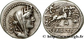 FABIA Type : Denier  Date : 102 AC.  Mint name / Town : Rome  Metal : silver  Millesimal fineness : 950  ‰ Diameter : 18,5  mm Orientation dies : 6  h...