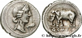 CAECILIA Type : Denier  Date : 81 AC.  Mint name / Town : Italie du Nord  Metal : silver  Millesimal fineness : 950  ‰ Diameter : 19  mm Orientation d...