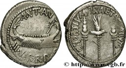MARCUS ANTONIUS Type : Denier  Date : 32-31 AC.  Mint name / Town : Grèce, Patras  Metal : silver  Millesimal fineness : 750  ‰ Diameter : 19  mm Orie...