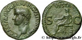CALIGULA Type : As  Date : 37-38  Mint name / Town : Rome  Metal : copper  Diameter : 27  mm Orientation dies : 6  h. Weight : 10,17  g. Obverse legen...