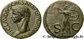 CLAUDIUS Type : As  Date : 50-54  Mint name / Town : Rome  Metal : copper  Diameter : 27,5  mm Orientation dies : 6  h. Weight : 9,72  g. Obverse lege...