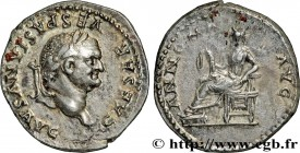 VESPASIAN Type : Denier  Date : 78-79  Mint name / Town : Rome  Metal : silver  Millesimal fineness : 900  ‰ Diameter : 19,00  mm Orientation dies : 7...