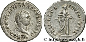 DOMITIANUS Type : Denier  Date : 79  Mint name / Town : Rome  Metal : silver  Millesimal fineness : 900  ‰ Diameter : 19  mm Orientation dies : 6  h. ...