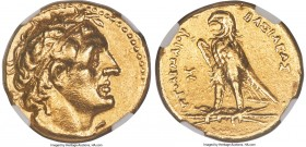 PTOLEMAIC EGYPT. Ptolemy II Philadelphus (285/4-246 BC). AV trichryson or triple stater (pentadrachm) (23mm, 17.74 gm, 12h). NGC Choice VF 5/5 - 2/5, ...