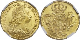 Jose I gold 3200 Reis 1772-R MS63 NGC, Rio de Janeiro mint, KM183.2, Fr-66, LMB-417. Stunning for the issue, with scintillating flares of golden luste...