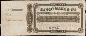 ARGENTINA. Banco de Maua. 1 Onza, 18xx. P-Unlisted. Specimen. Extremely Fine.