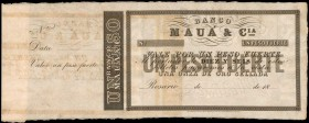 ARGENTINA. Banco de Maua. 1 Peso, 18xx. P-Unlisted. Specimen. About Uncirculated.