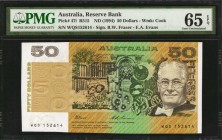 AUSTRALIA. Reserve Bank. 50 Dollars, ND (1994). P-47i. Consecutive. PMG Gem Uncirculated 65 EPQ.