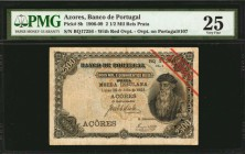 AZORES. Banco de Portugal. 2 1/2 Mil Reis Prata, 1906-09. P-8b. PMG Very Fine 25.