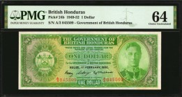 BRITISH HONDURAS. Government of British Honduras. 1 Dollar, 1949-52. P-24b. PMG Choice Uncirculated 64.
